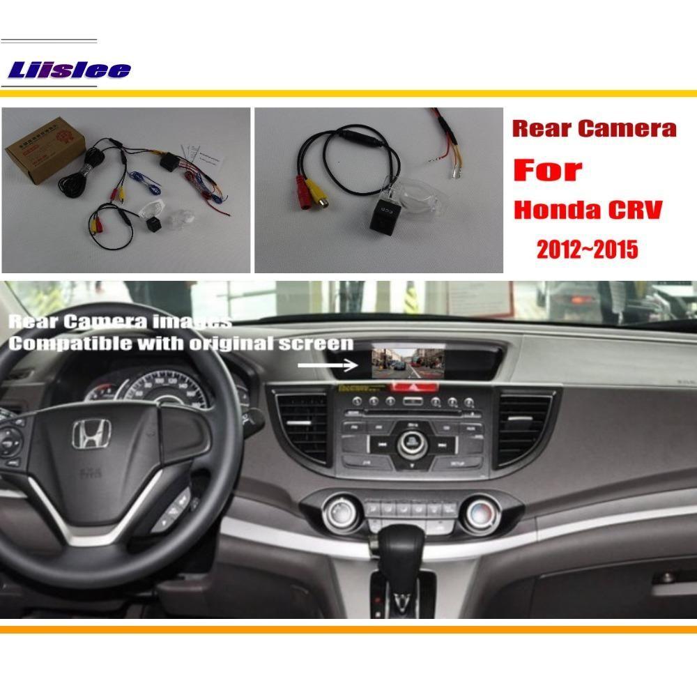 Ensembles de caméra de recul de vue arrière de voiture pour Honda CRV CR-V 2012 ~ 2015/Vision nocturne/RCA et écran d'origine Compatible