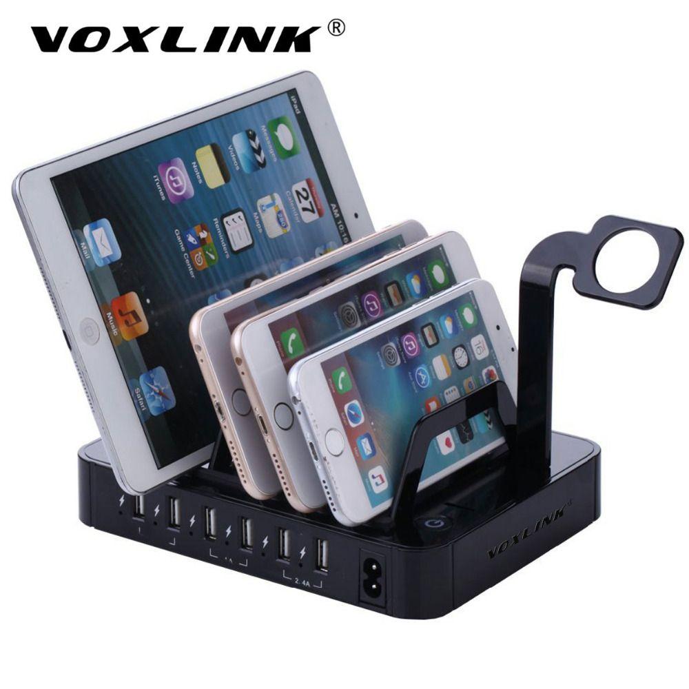 VOXLINK Universal Multi-Port 6 Ports 8.8A USB Reise-ladegerät Desktop Schnelle Ladestation Für iPhone 7 6 S Samsung Tablet