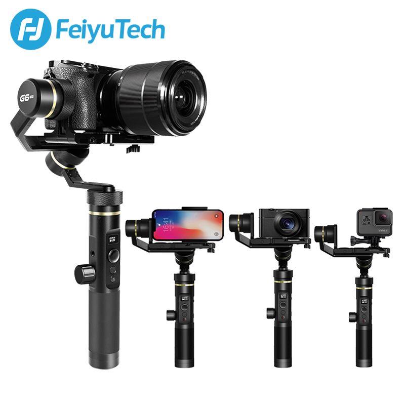 FeiyuTech Feiyu G6 Plus 3-Axis Handheld Splashproof Gimbal stabilizer for Mirrorless Camera Pocket Camera GoPro 5/6 Smartphone