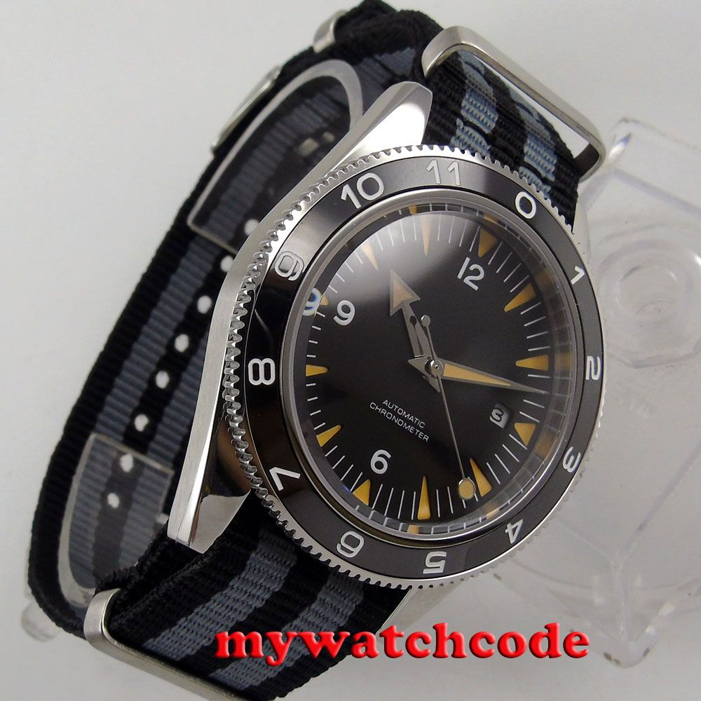 41mm debert black sterile zifferblatt ceramic lünette miyota Automatische herrenuhr Luxusmarke Top Mechanische Uhren D85B