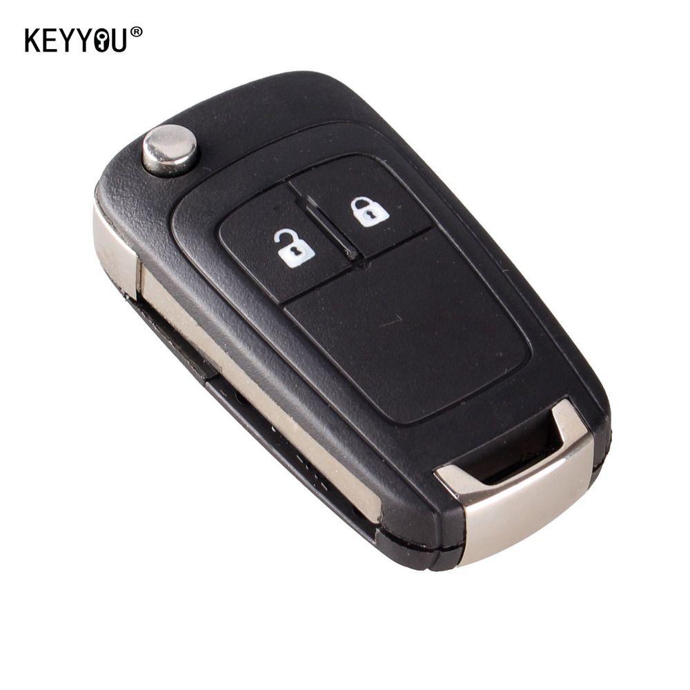 KEYYOU Flip Folding Remote Key Fall für OPEL VAUXHALL Insignia Astra 2 Taste HU100 Uncut Klinge