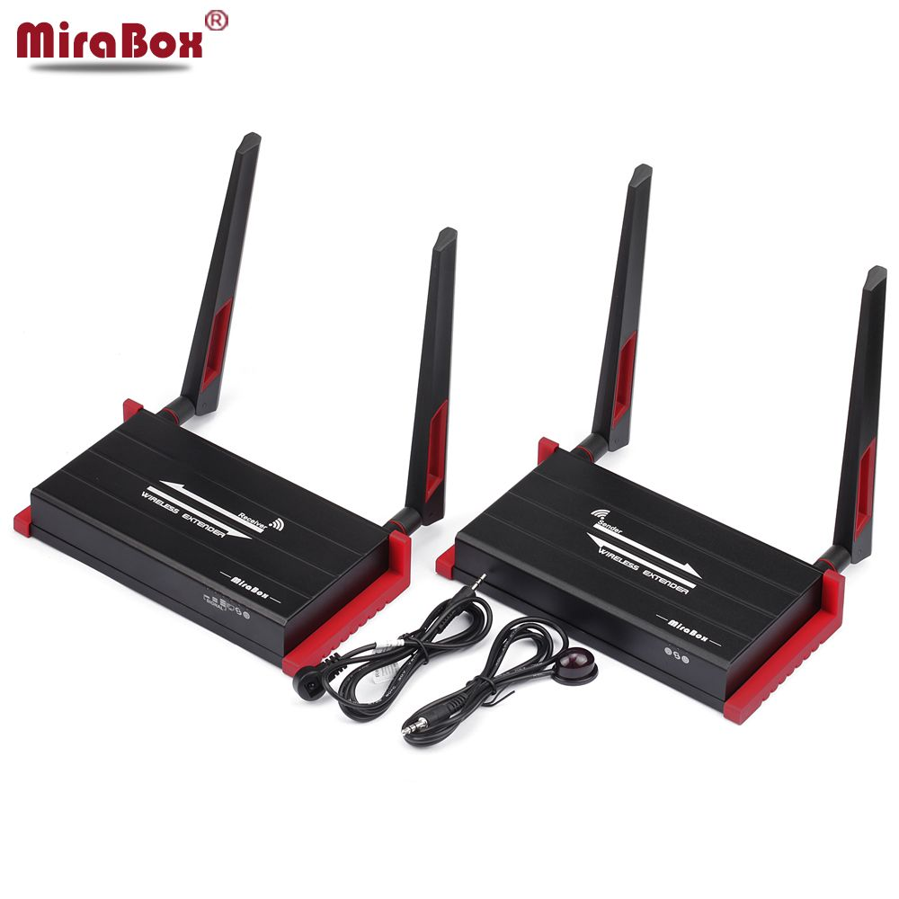 MiraBox 300m (984ft) Wireless HDMI Extender With IR Remote Control Support 1080P HDMI Wireless Extender 300m Sender Receiver