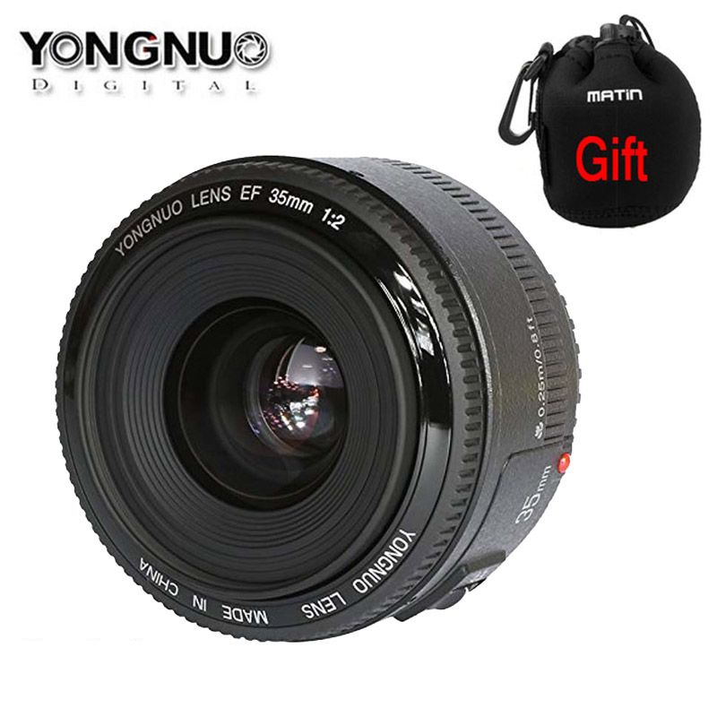 Yongnuo YN35mm F2.0 F2 1:2 AF MF Wide angle Fixed dslr camera Lens for Canon EOS 600d 60d 5DII 5D 400D 650D 600D 450D 60D 7D
