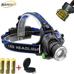 RU LED Body Motion Sensor Projecteur Lanterne XML T6 Zoomables Tête De Lampe-Torche Phare Étanche Lanterna Projecteurs