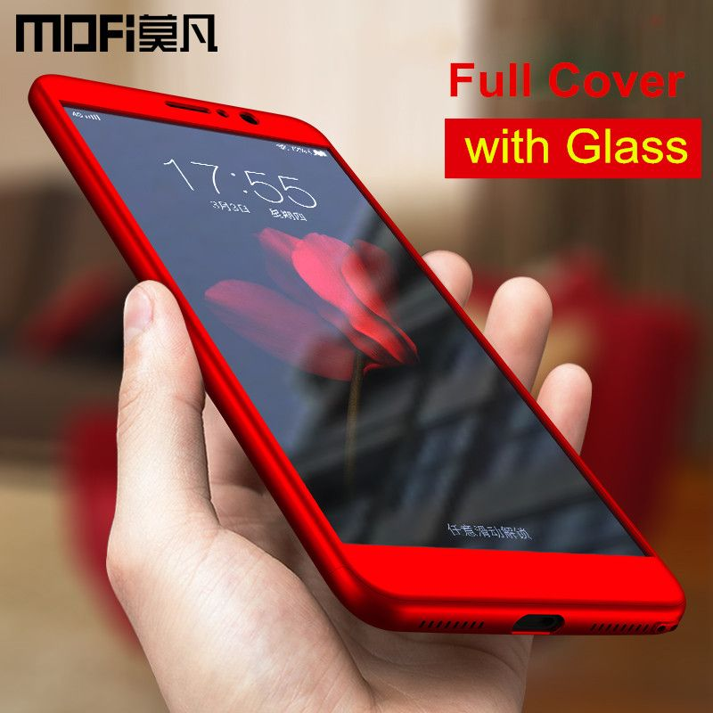 Huawei mate 9 case cover mate9 back cover full cover protective capas MOFi Huawei mate 9 cases with glass screen protective 5.9