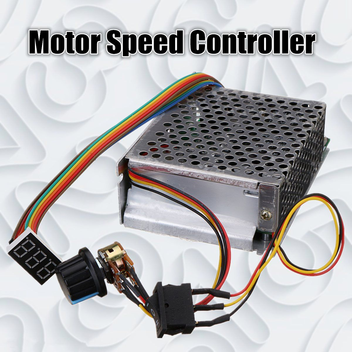DC10-50V 60A 3000W Reversible DC Motor Speed Controller PWM Control 12V 24V 36V 48V Forward-Stop-Reversal Brake Digital Display