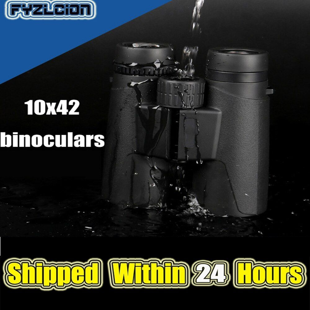 New 10*42 Binoculars Military HD Non-Infrared Low Light Night Vision Outdoor Professional Hunting Binoculars
