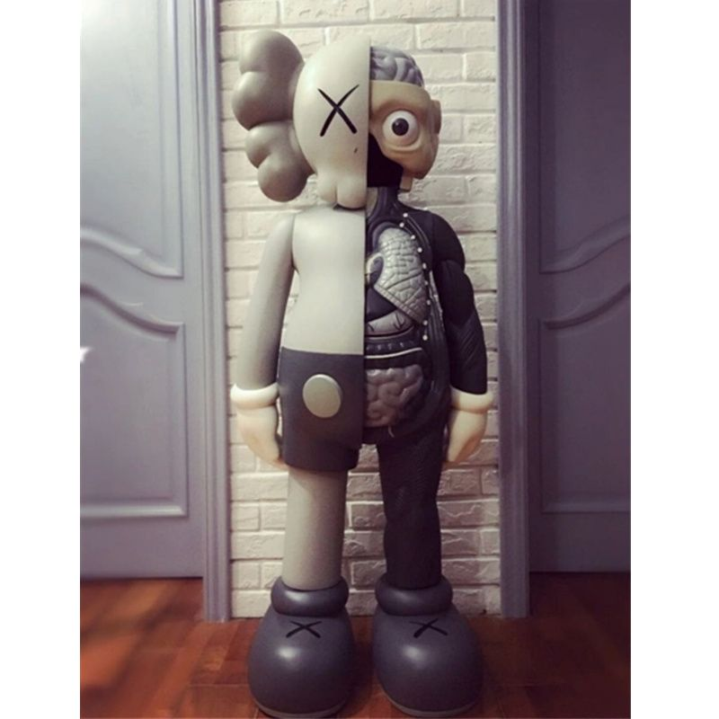 1.3M OriginalFake KAWS Dissected Companion Brian Street Art BFF 4FT Action Figure Collectible Model Medicom Toy L1941