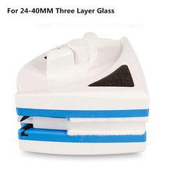 Super Magnetic Sikat untuk Mencuci Kaca Jendela Sikat Wiper Cleaner Double Rumah Kaca Sikat Pembersih (untuk Kaca 24 -40 Mm)