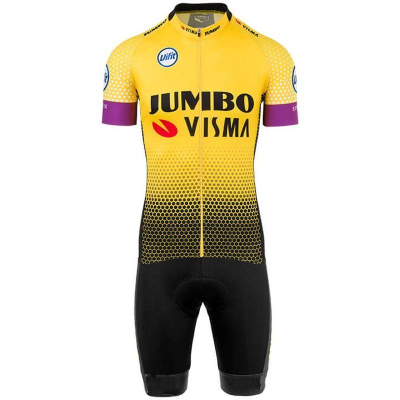 2019 pro team jumbo visma ein stück radfahren jersey skinsuits bike bodys MTB Ropa Ciclismo Fahrrad speedsuit maillot GEL PAD