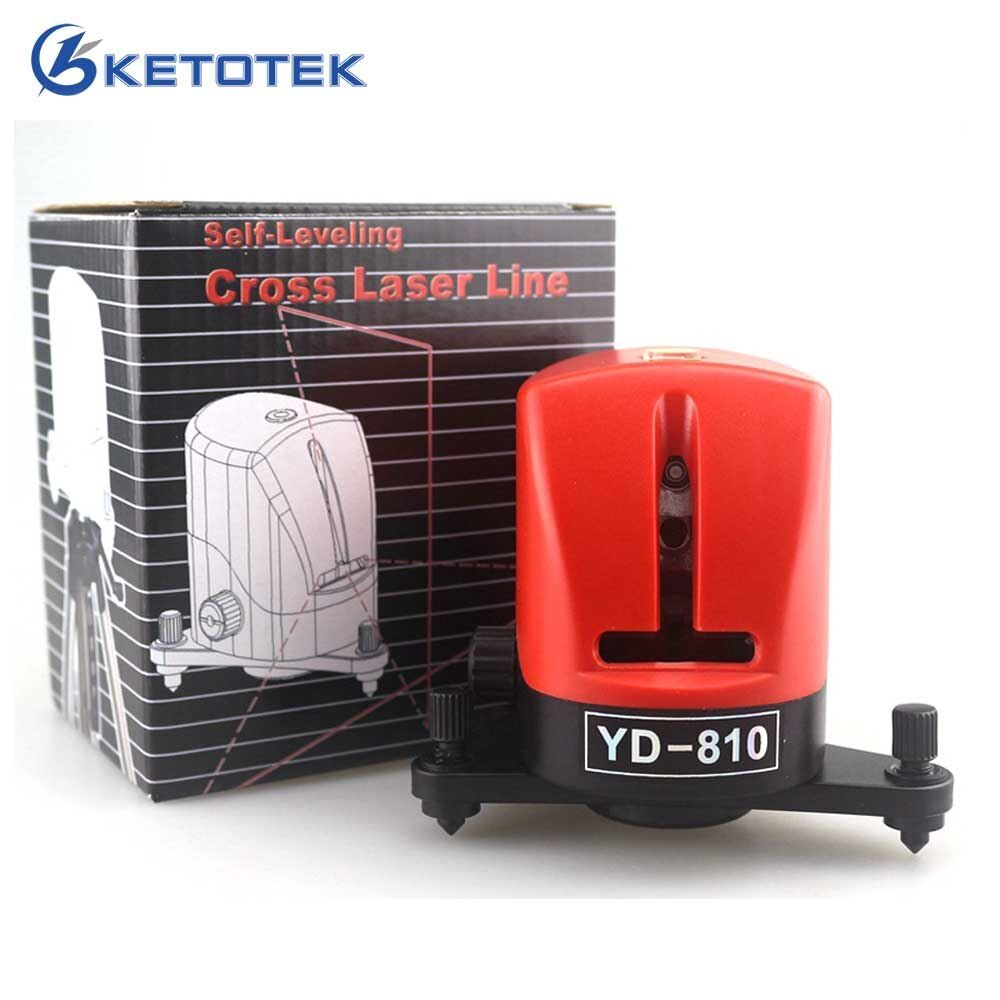 YD-810 2 Cross Red Laser Level 360 Self-leveling Measuring Tools Horizontal And Vertical