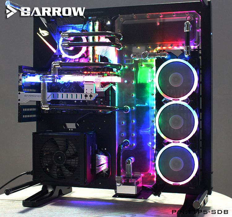 Barrow TTP5-SDB, Waterway Boards For TT Cors P5 Case, For Intel CPU Water Block & Single/D GPU Building