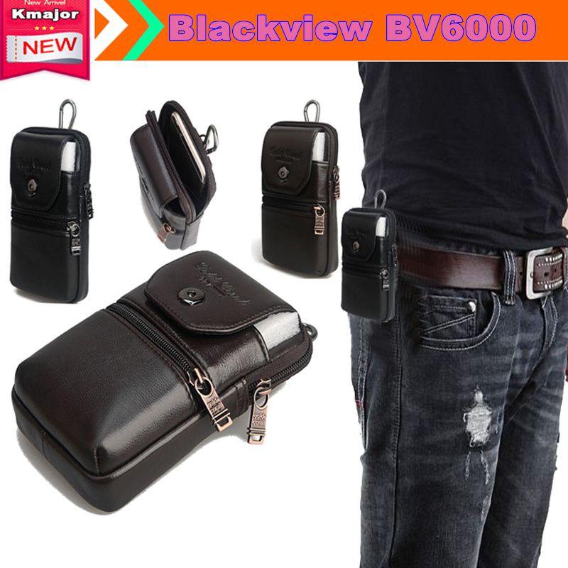 Cuir véritable Report Ceinture Clip Poche Taille Couvercle Bourse pour Blackview BV6000 BV6000S 4.7 pouces Téléphone Expédition de Baisse Libre
