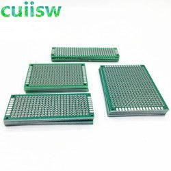 20PCS/LOT 5x7 4x6 3x7 2x8 CM Double Side Copper Prototype PCB Universal Board Experimental Development Plate For arduino