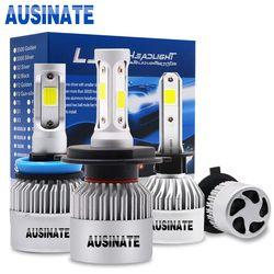 Turbo H1 LED Mobil Lampu H4 Tinggi/Rendah Beam Lampu LED Tongkol Chip H3 H7 H8 H9 H11 H13 HB3 HB4 H27 Lampu Kabut LED 6500 K 72 W 8000LM