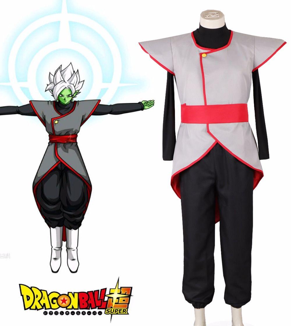 Free Shipping Dragon Ball Super Zamasu and Goku Black Fighting Uniform Anime Cosplay Costume