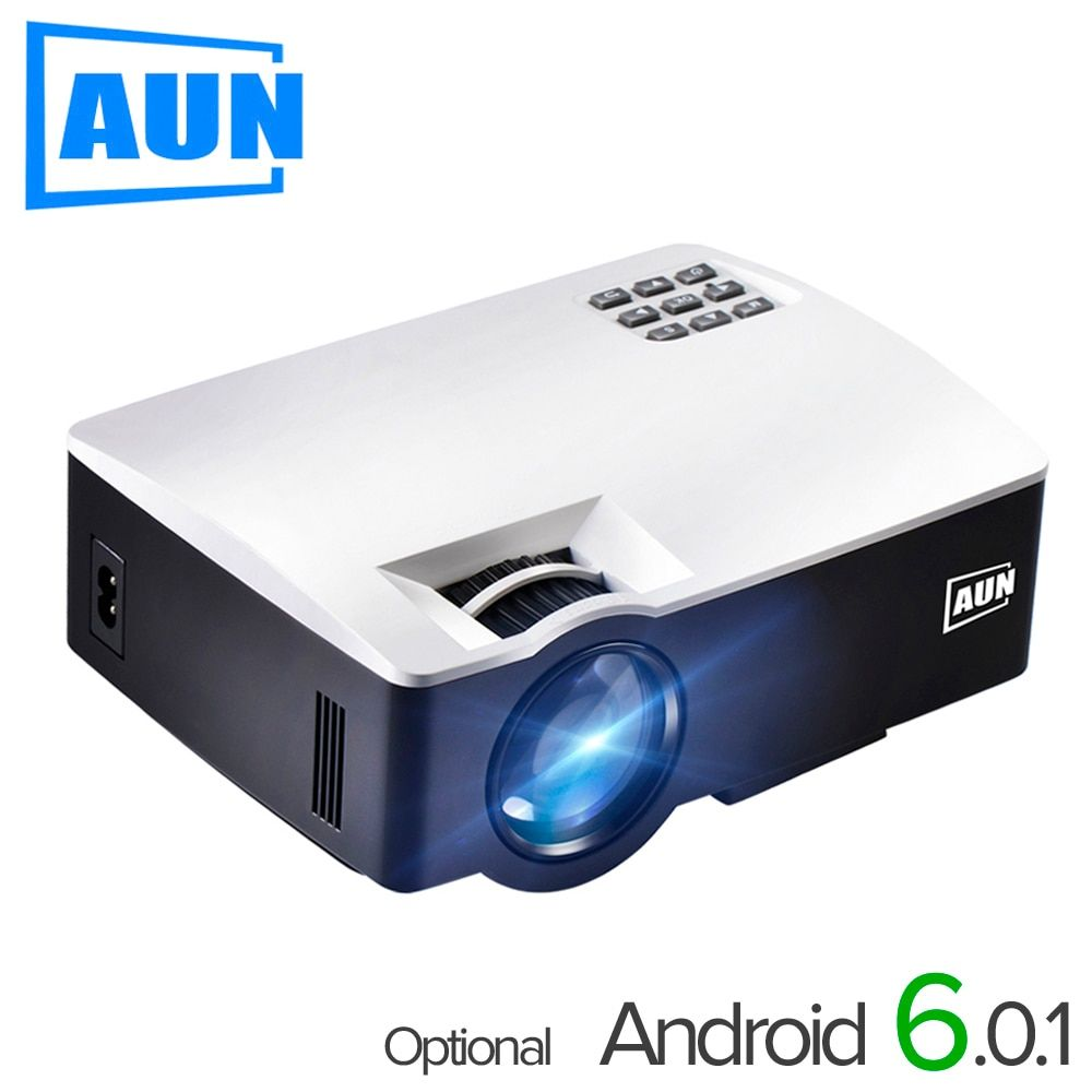 AUN LED Proyector AKEY1/Plus for Home Theater, 1800 Lumens, Support Full HD Mini projector (<font><b>Optional</b></font> Android 6 Support 4K Video)