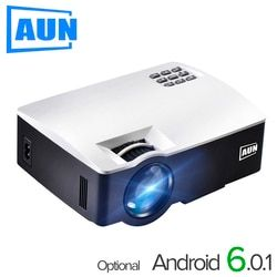 AUN Projecteur AKEY1/Plus pour Home Cinéma, 1800 Lumens, Support HDMI Full HD 1080 P (En Option Android 6 Version Soutien 4 K Vidéo)