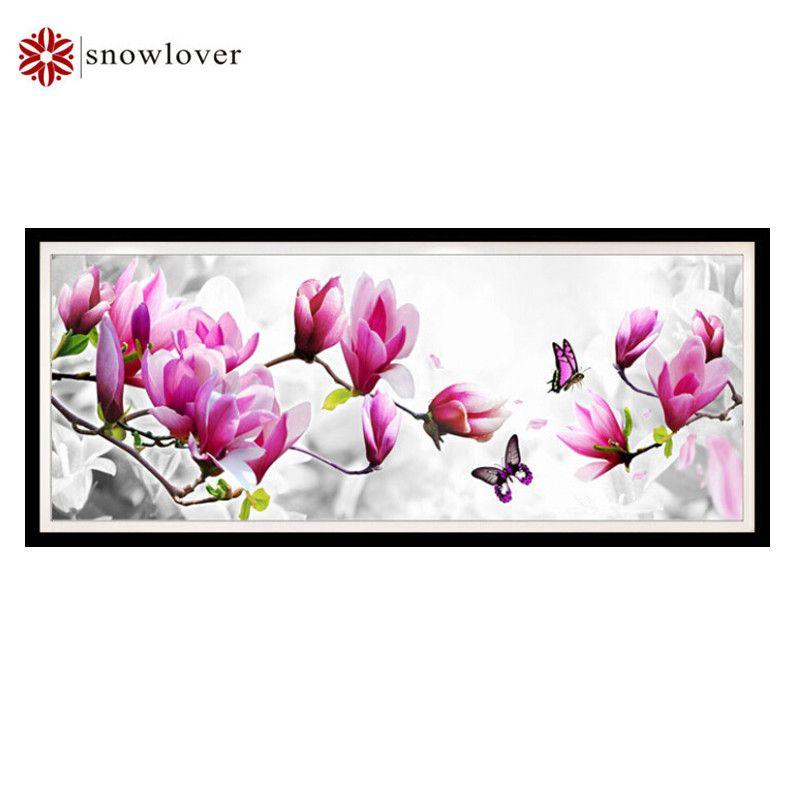 Snowlover, Hand, DIY DMC kreuzstich, stickerei bänder, Schmetterling drama Magnolia muster wohnkultur, weihnachten geschenke