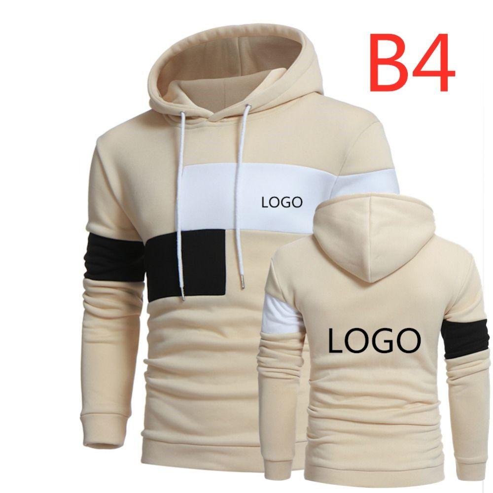 B4 2019 impression personnalisée LOGO HoodieS pour hommes pull hommes à capuche sweat veste personnalisé Harajuku grande taille livraison directe Top