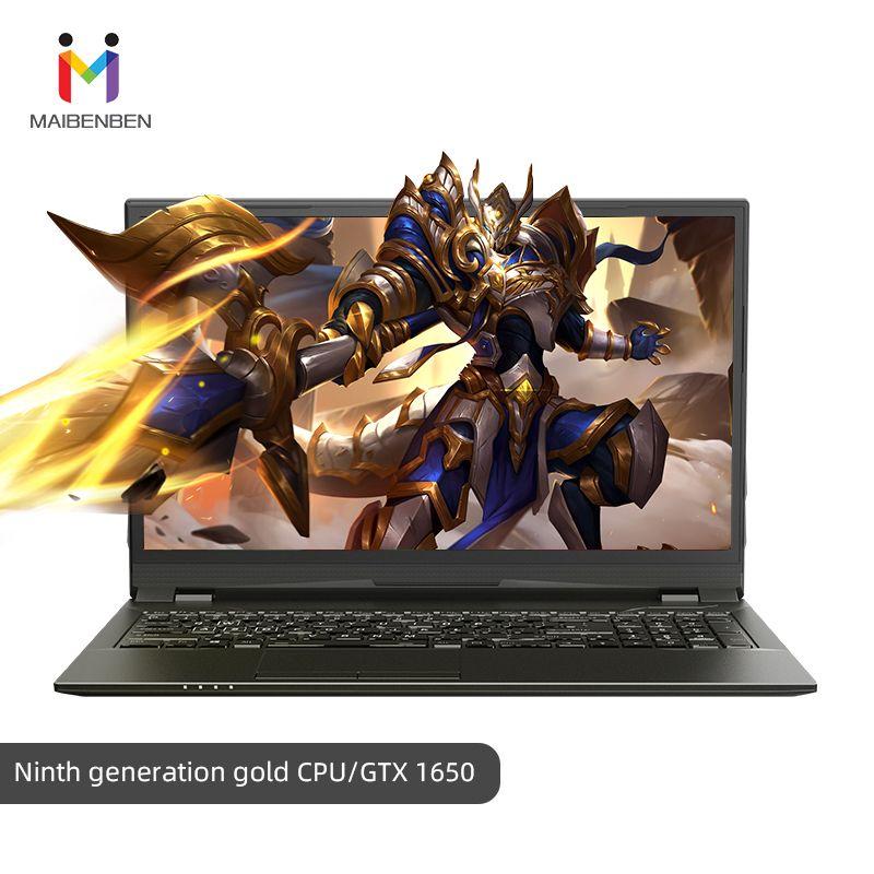 Super gaming laptop MaiBenBen HeiMai 7-D/16,1 G5420/16G RAM/PCI-E 256G + 1TB HDD/NVIDIA GTX1650 4G Grafik/Schwarz Notebook Gaming