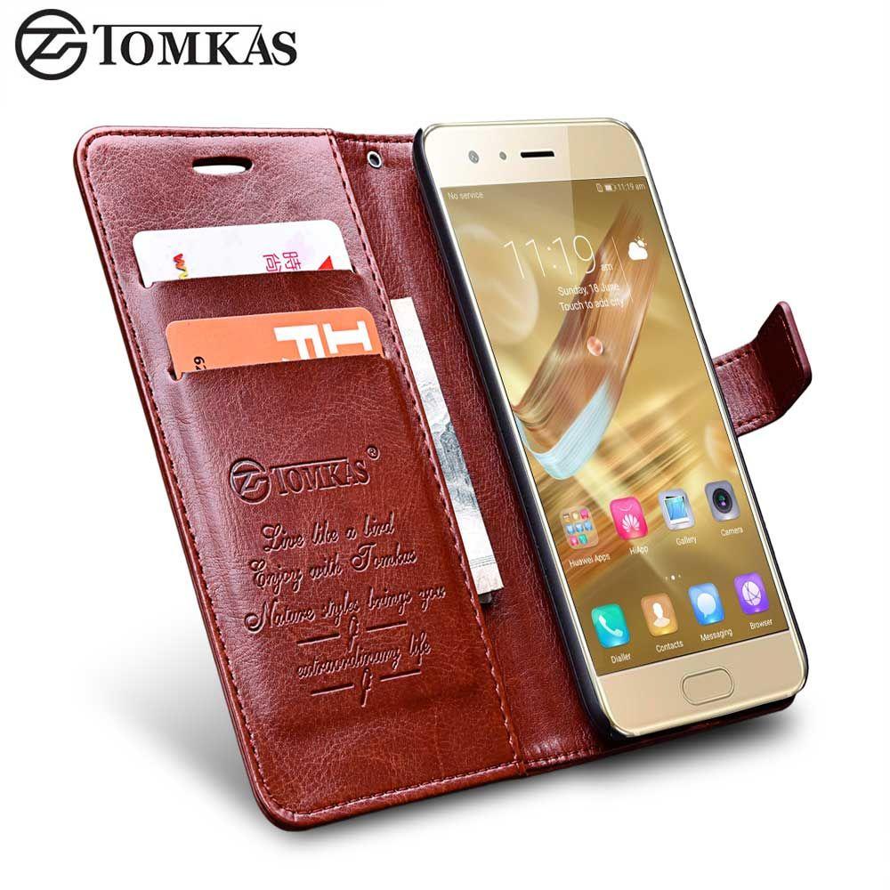 Huawei Honor 9 Fall Abdeckung TOMKAS Weinlese Pu-lederner Mappen-kasten für Huawei Ehre 9 Telefon-beutel-abdeckung Flip mit Ständer