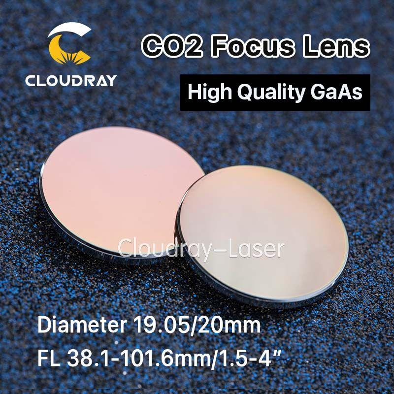 Cloudray GaAs Focus Lens Dia. 19.05/20mm FL 50.8 63.5 101.6mm 1.5-4