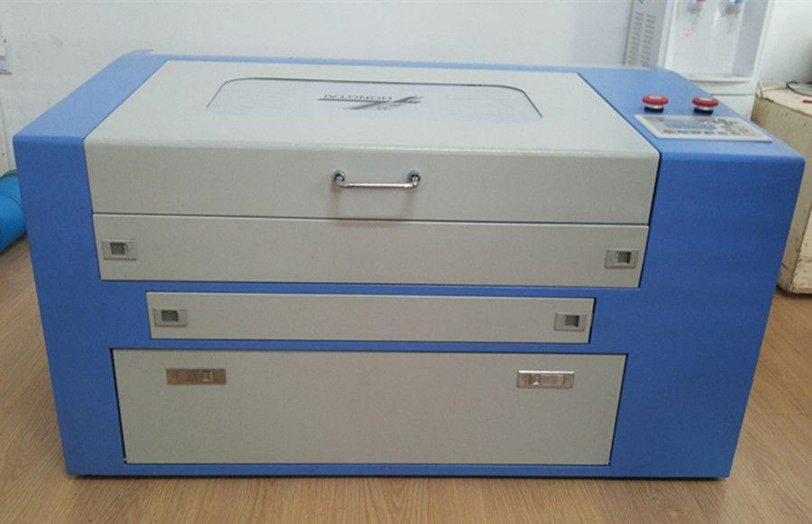 460 Ruida 6442 control system 60 w laser gravur schneiden maschine für holz acryl mit oben und unten tabelle