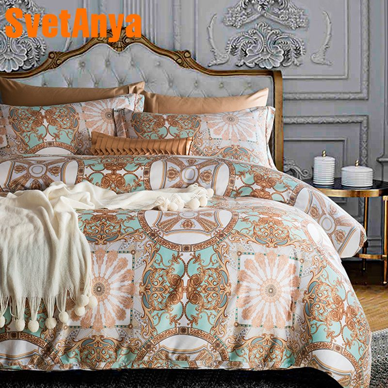 Svetanya Bohemian Style Egyptian Cotton Bedding Sets Bedsheet Pillowcases Duvet cover set Twin Queen King Double Size