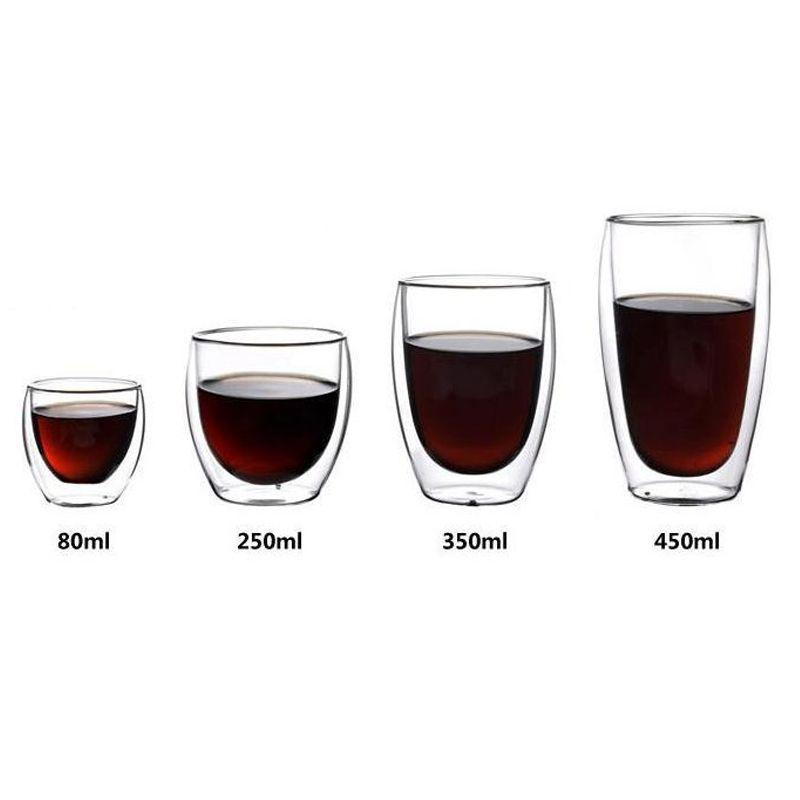 1 Pcs résistant à La Chaleur À Double Paroi En Verre Tasse de Bière Tasse de Café Mis La Main Creative Bière Tasse Thé Tasses Transparent verres