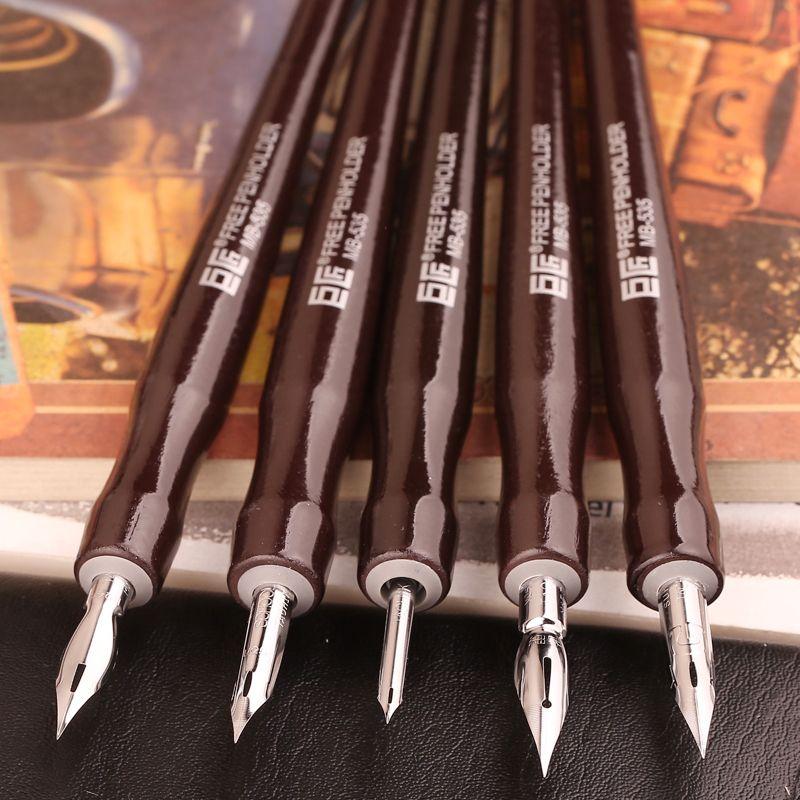 Japen grand maître Dip stylo plume professionnel Comics outils Comics Dip stylo 5 arbre 5 Nib ensemble