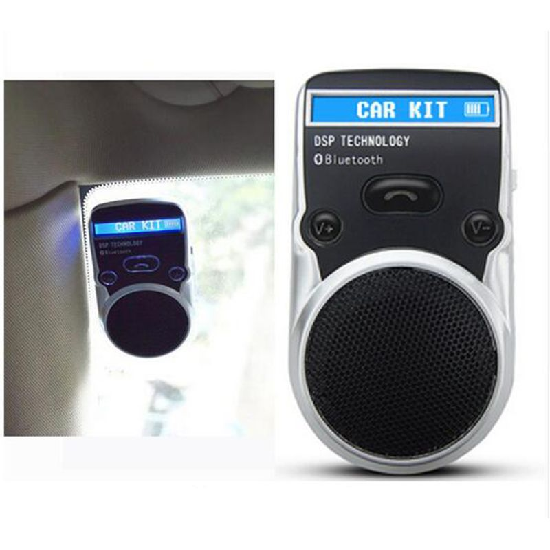 Gakaki LCD Bluetooth Car Kit Hands Free Adapter AUX Receiver Solar Power Handsfree Speakerphone For Cigarette Lighter Usb