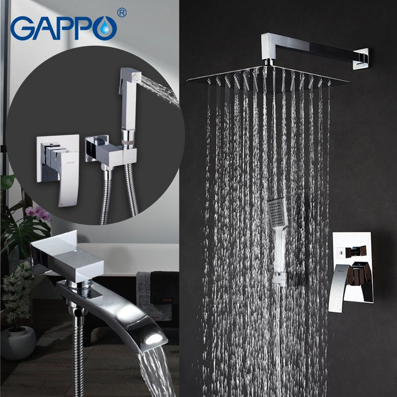 GAPPO Bathtub Faucets bath tub mixer bathtub tap baignoire bidet faucet handheld bidet spray washer tap