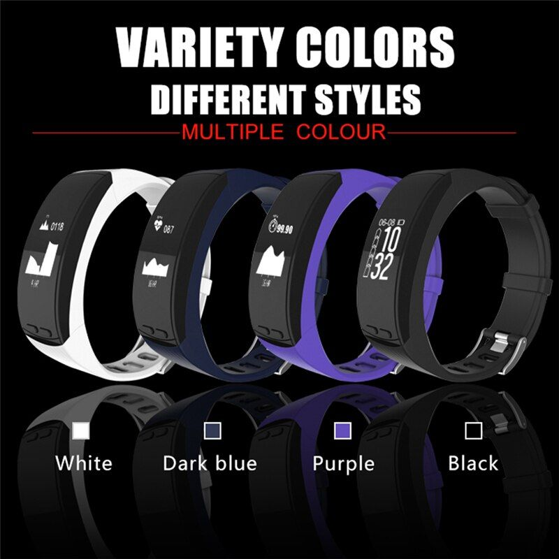 P5 96'' OLED Smart Bracelet GPS Outdoor Sport Smartband Heart Rate Temperature Measure With Pedometer Bracelet for IOS Android