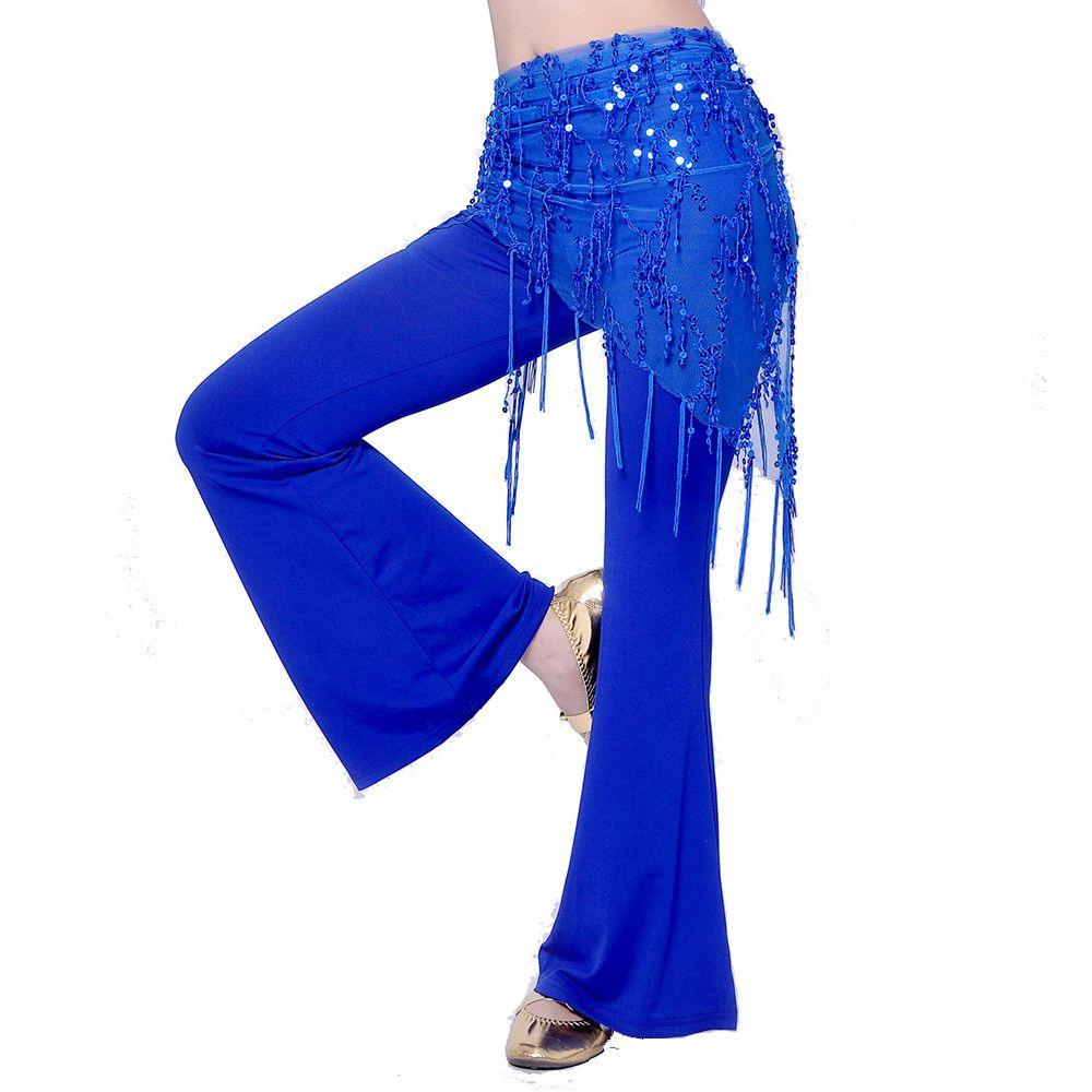 Danza del vientre cintura cadena de la danza india bufanda de la cadera de lentejuelas vendaje VL-CW100 cinturón de Danza danza del vientre cinturón 8 colores para su opción