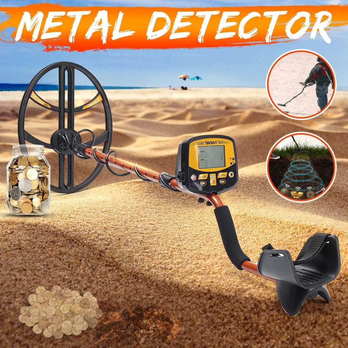 TX-950 Professionelle Unterirdischen Metall Detektor Hohe Empfindlichkeit Silber Gold Detektor mit Umschaltbar Hintergrundbeleuchtung LCD Display