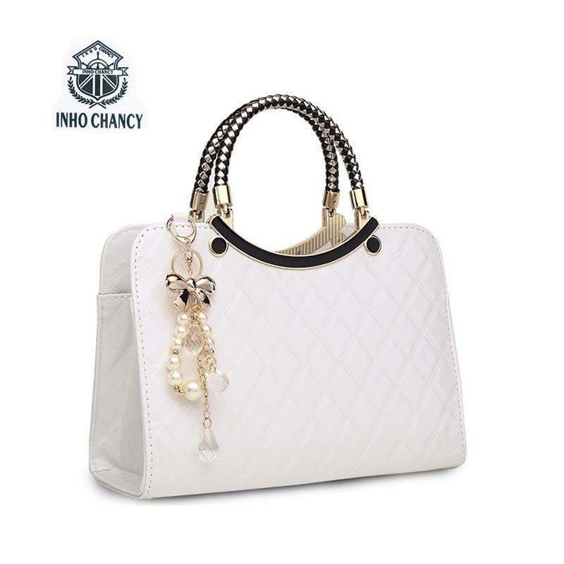 2017 nouveau luxe simple coquilles en cuir sac à main célèbre marques designer femme marée tricot sac à bandoulière femmes Messenger sac