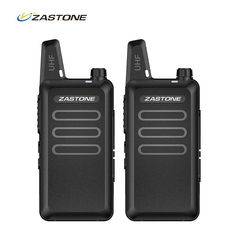 Zastone talkie walkie portable ham radio UHF 400-470 mhz mini HF Émetteur-Récepteur à Deux Voies Radio Communicateur Pour La Chasse radio