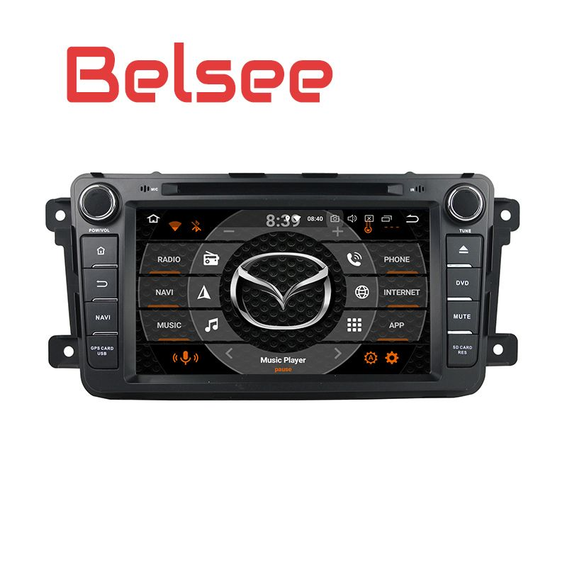 Belsee Octa Core 4+32GB Android 8.0 Car DVD player Touch Screen Carplay Radio Head Unit GPS Navigation for Mazda CX9 CX 9 CX-9