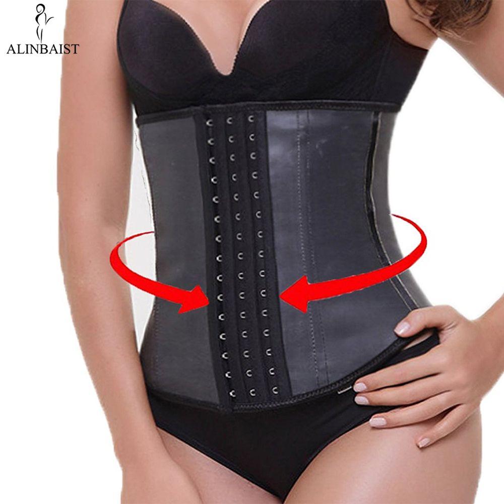 9pcs Steel Bone Waist Trainer Latex Shapewear Slimming Belt Waist Cincher Hot Body Shaper Girdle Workout Tummy Control for Women