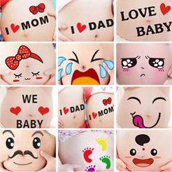 Tatuajes temporales para terapia de las mujeres embarazadas maternidad foto apoyos embarazo fotografías vientre pintura foto pegatinas