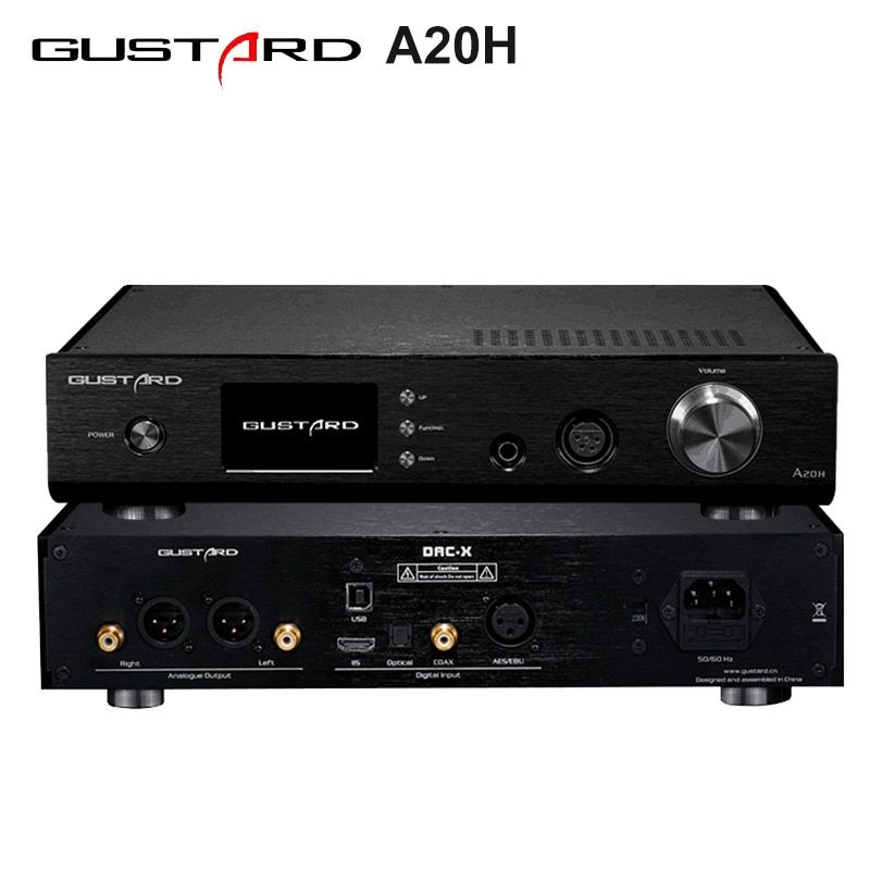 GUSTARD A20H Dual AK4497 XMOS USB PCM/DSD DOP DAC Decoder und Klasse A Volle Ausgewogene Verstärker