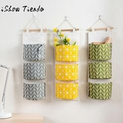 3 Grids Wall Hanging Storage Bag Organizer Toys Container Decor Pocket Pouch Bolsa De Bolsillo Colgante#Q