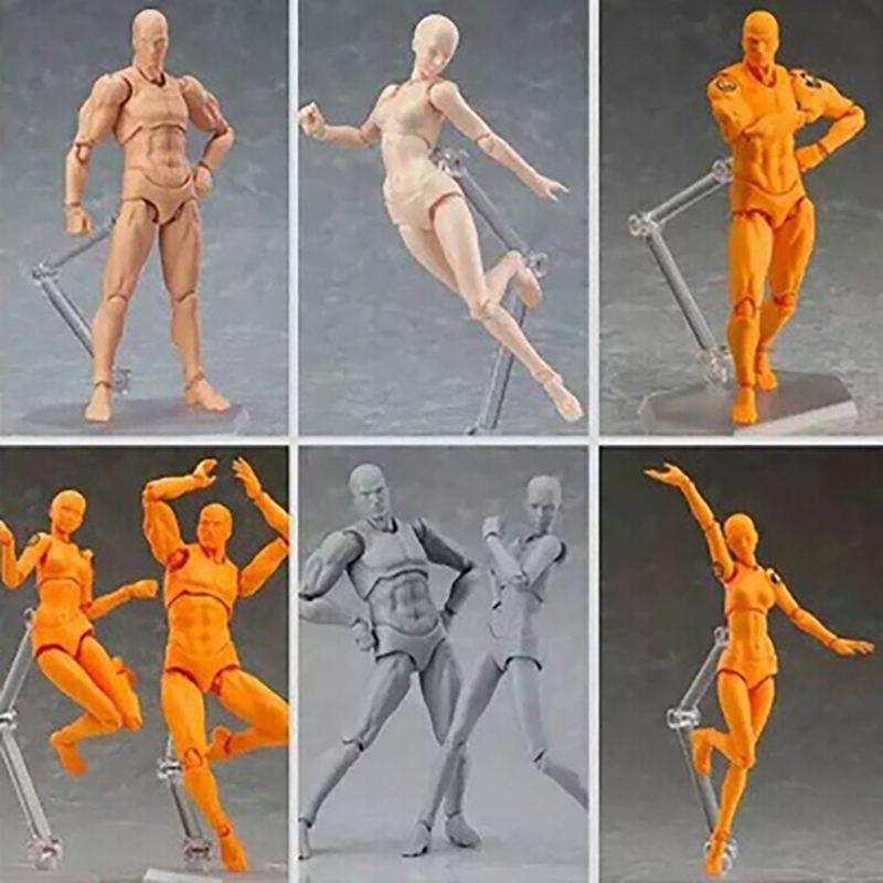 Mâle Femelle corps Mobile commune Figurine Jouets d'art peinture Anime poupée Mannequin Mannequin Art Croquis Dessiner corps Humain poupée