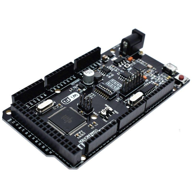 Mega2560 + WiFi R3 ATmega2560 + ESP8266 32 Mo de mémoire USB-TTL CH340G. Compatible pour Arduino Mega NodeMCU pour WeMos ESP8266