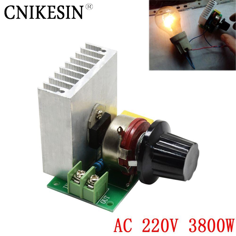 Cnikesn AC 220 В 3800 Вт импортированы SCR тиристорный силовой электронный диммер, регулятор напряжения, скорости и температуры управляемые