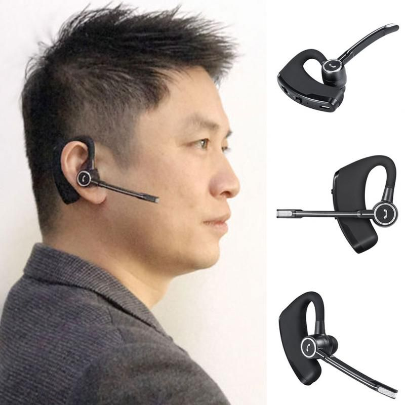 V8S D'affaires De Voiture Écouteurs Sans Fil Bluetooth V4.1 Téléphone Mains Libres MIC Musique pour iPhone/Samsung/Xiaomi