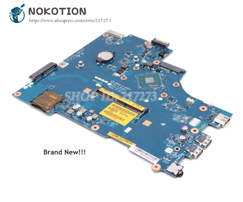 NOKOTION NEW For Dell inspiron 15 3531 Laptop Motherboard CN-0Y3PXH 0Y3PXH ZBW00 LA-B481P MAIN BOARD N3530 CPU Onboard DDR3