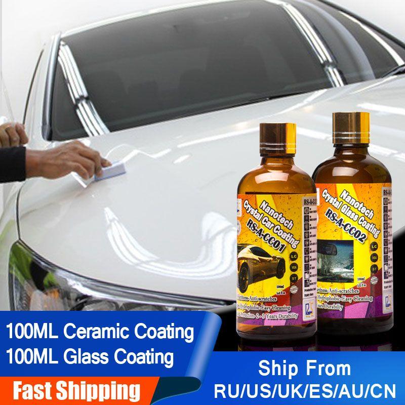 Étoile montante RS-A-CC0102 verre liquide Nano hydrophobe en céramique revêtement de soin de voiture cristal voiture et verre revêtement 200 ml Kit pour bricolage
