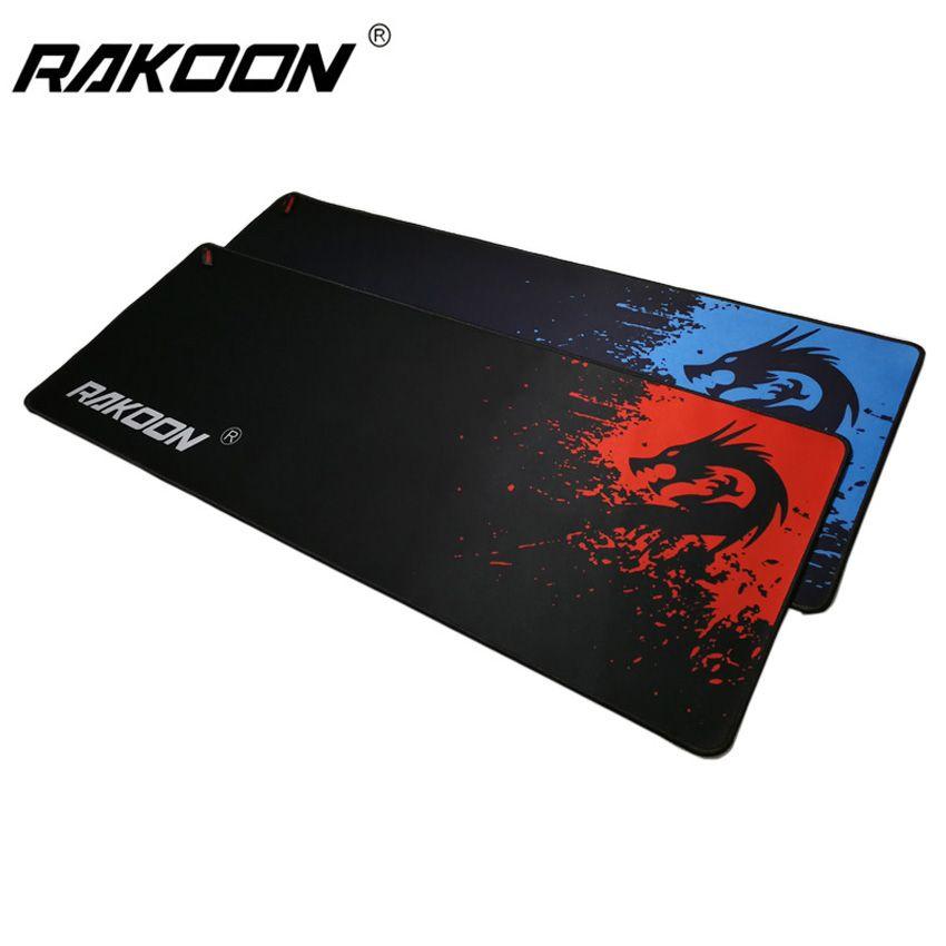 Rakoon tapis de souris de jeu professionnel bleu/rouge Dragon 300x800mm PC ordinateur portable ordinateur de bureau tapis de souris tapis pour Dot 2 Lol CSGO Gamer